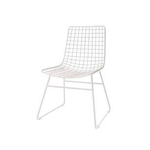 Metalen draad stoel, Wit, medium