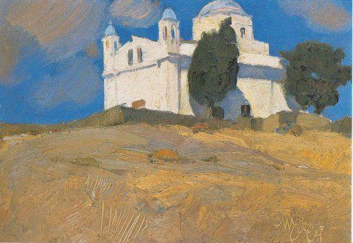 """ Nikolaos Lytras (Greek, 1883-1927), Landscape, Tinos. """