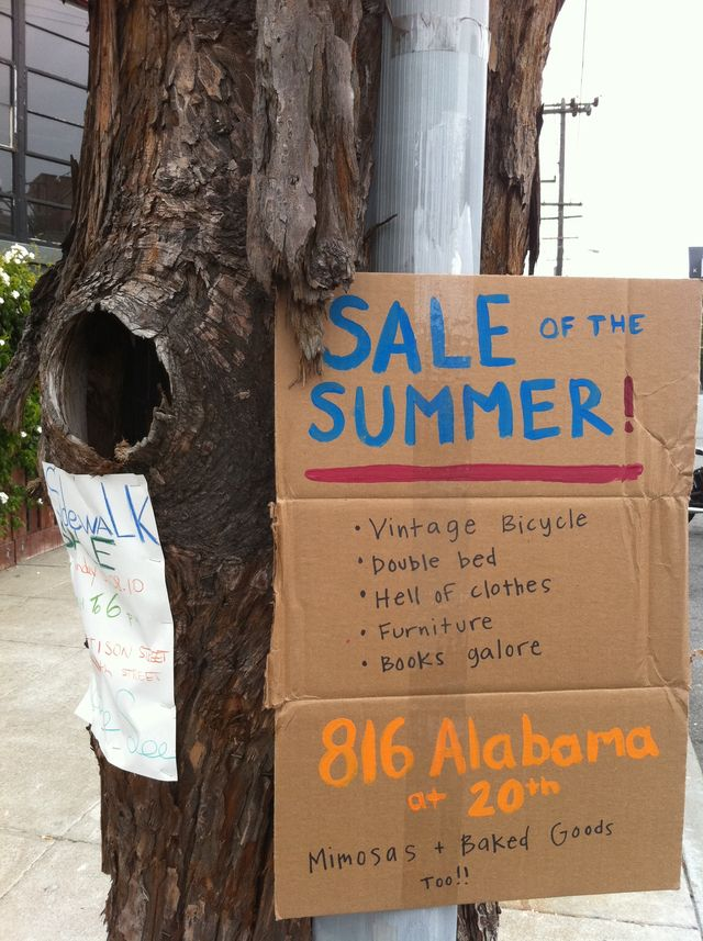 7 Great Yard Sale Signs (and Why They Work): Sale of the Summer Sign