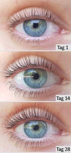 Kokosnussöl Augenbrauen vorher und nachher
