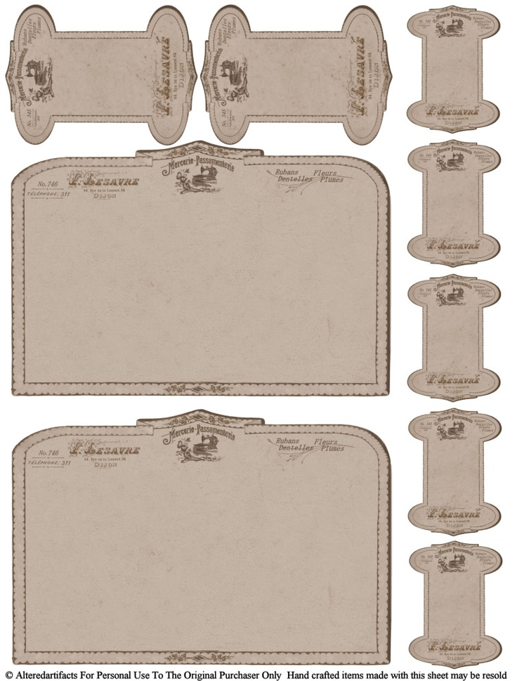 free printable vintage card spools  12/9/12