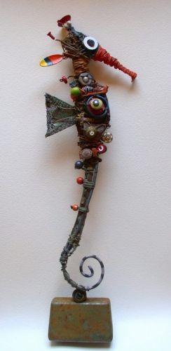 hippocampus, sculpture, assemblage, gerard collas