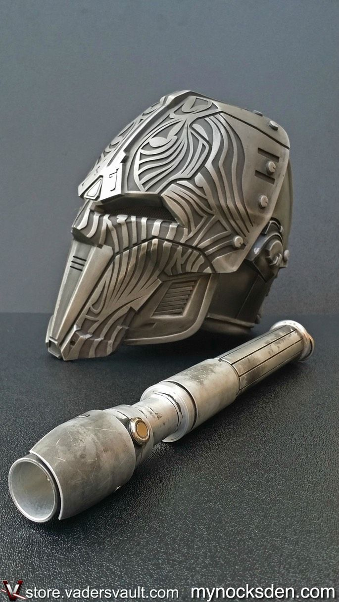Sith Acolyte Mask and Lightsaber