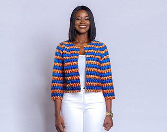 African print blazer, African clothing, Ankara blazer, Ankara clothing
