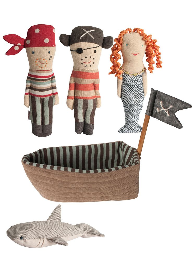 TODAY on Gilt! Pirate Ship and Rattle Friends by Maileg at Gilt