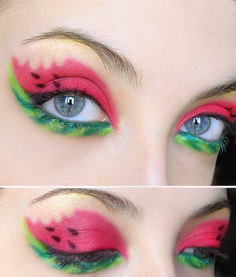 I don't like this make up too much, but I like the idea of taking inspiration from things you stumble upon in day to day life. Like food.