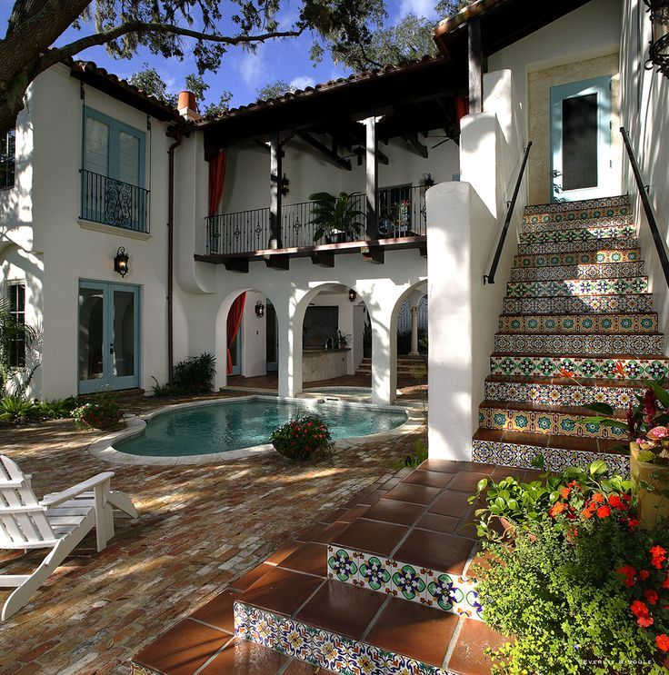 mexican+hacienda+compounds | Handmade Ceramic Tiles: Mizner Industries Hand Painted Ceramics ...
