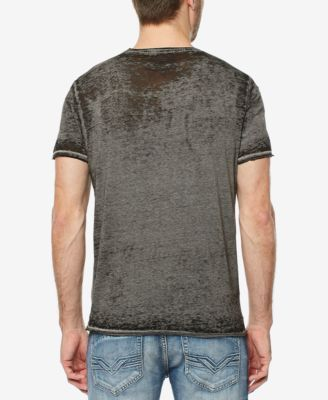 Buffalo David Bitton Men's Charcoal Wash Graphic-Print T-Shirt - Gray XXL