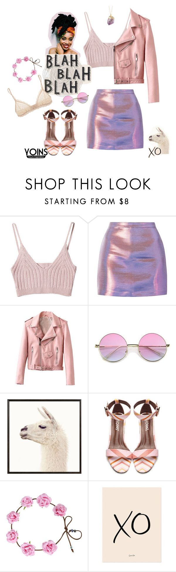 """""""fluorescent adolescent 💋"""" by magi-418 ❤ liked on Polyvore featuring Pottery Barn, xO Design, Eberjey and yoins"""