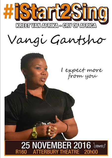 iStart2 Blog : I expect more from you ... Vangile Gantsho