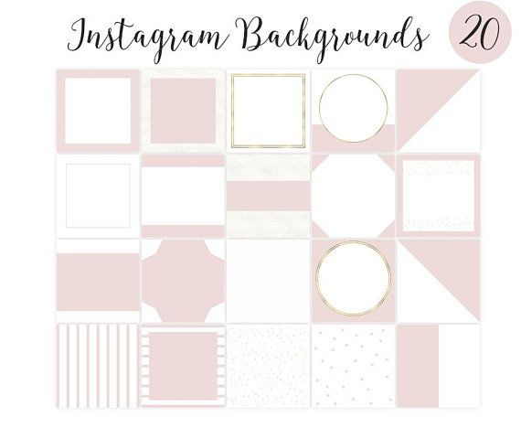 Set Of 20 Pink Blush And Gold Instagram Set Backgrounds Template Instagram Template Backgrounds Instagram Feed Pictures Instagram Template Business Card Graphic Beautiful Business Card Cool instagram wallpaper feeds
