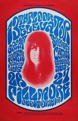 Jefferson Airplane poster, Fillmore Auditorium