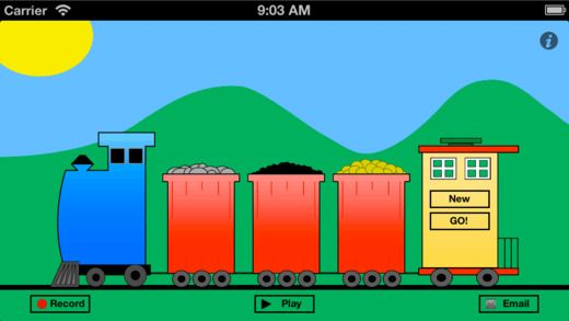 Talking Train ($1.99) designed to provide support for simple story telling, social stories, sequencing, and question asking. It's many uses include: helping kids keep their stories short and exciting, making sure they incorporate relevant details in their stories, sequencing steps to a task, and re-telling activities. It's great for use by parents, educators, therapists, and children.