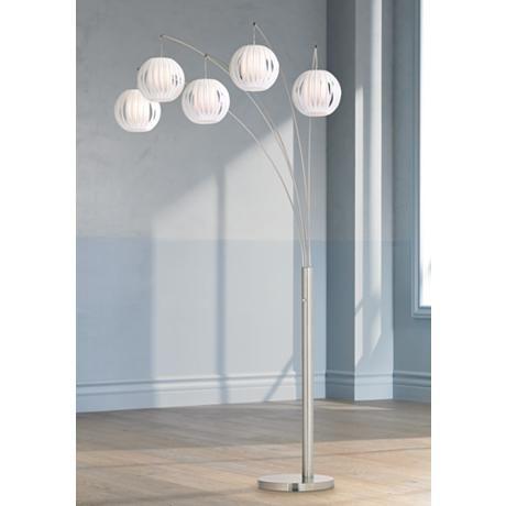 lite source deion 5light hanging arc floor lamp style k6572