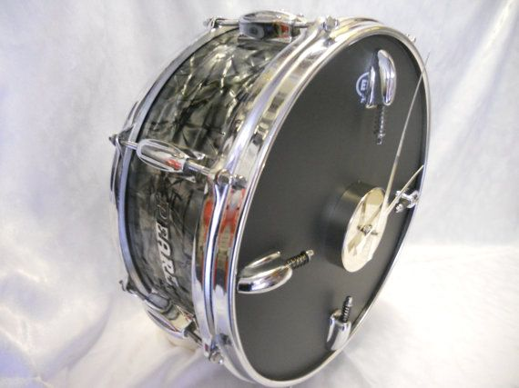 Vintage Pearl Snare Drum Clock by RockingtheClock on Etsy
