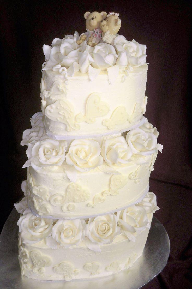The 34 best Buttercream wedding cakes images on Pinterest ...