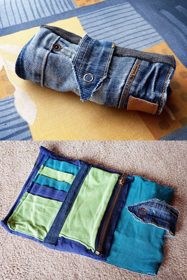 Denim/Recycled Jeans Patchwork Purse by *ajnataya on deviantART