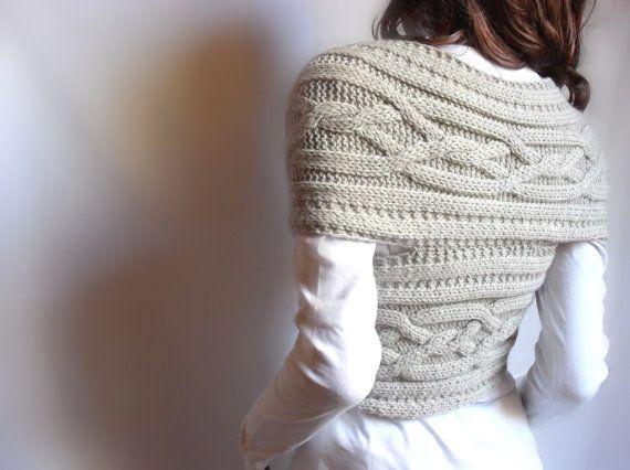 Hand knit cross sweater capelet vest neck warmer in by pilland 98 00