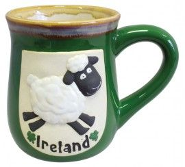 Ireland Pottery Mug with Sheep