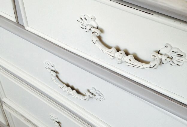 It really is all about the details! Sometimes painting the hardware is your best option.  This dresser turned out to be a piece we all fell in love with!