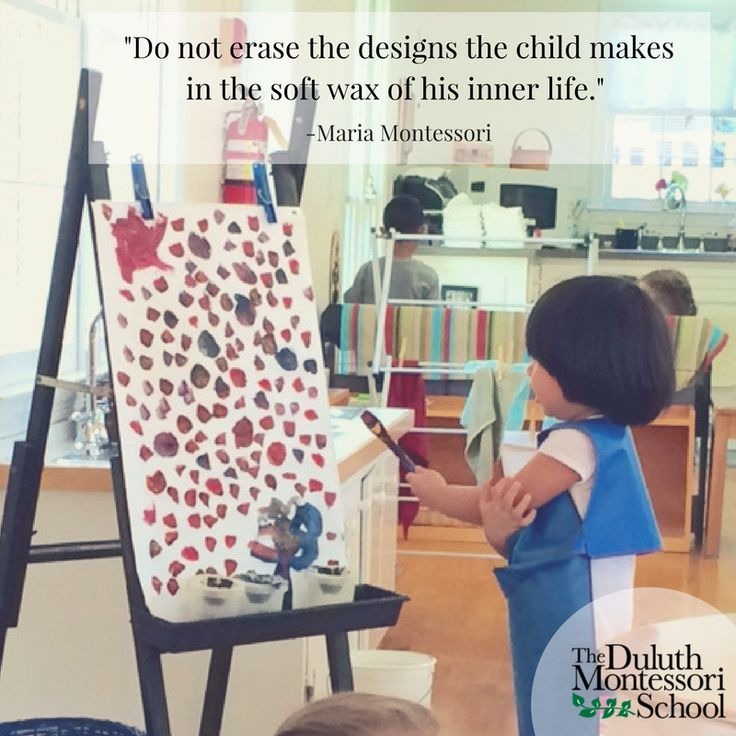 A Montessori education can allow children the opportunity to express these designs.