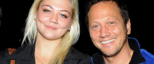 Elle King and Rob Schneider pose at The Ice House Comedy Club, Oct. 22, 2009 in Pasadena, Calif.