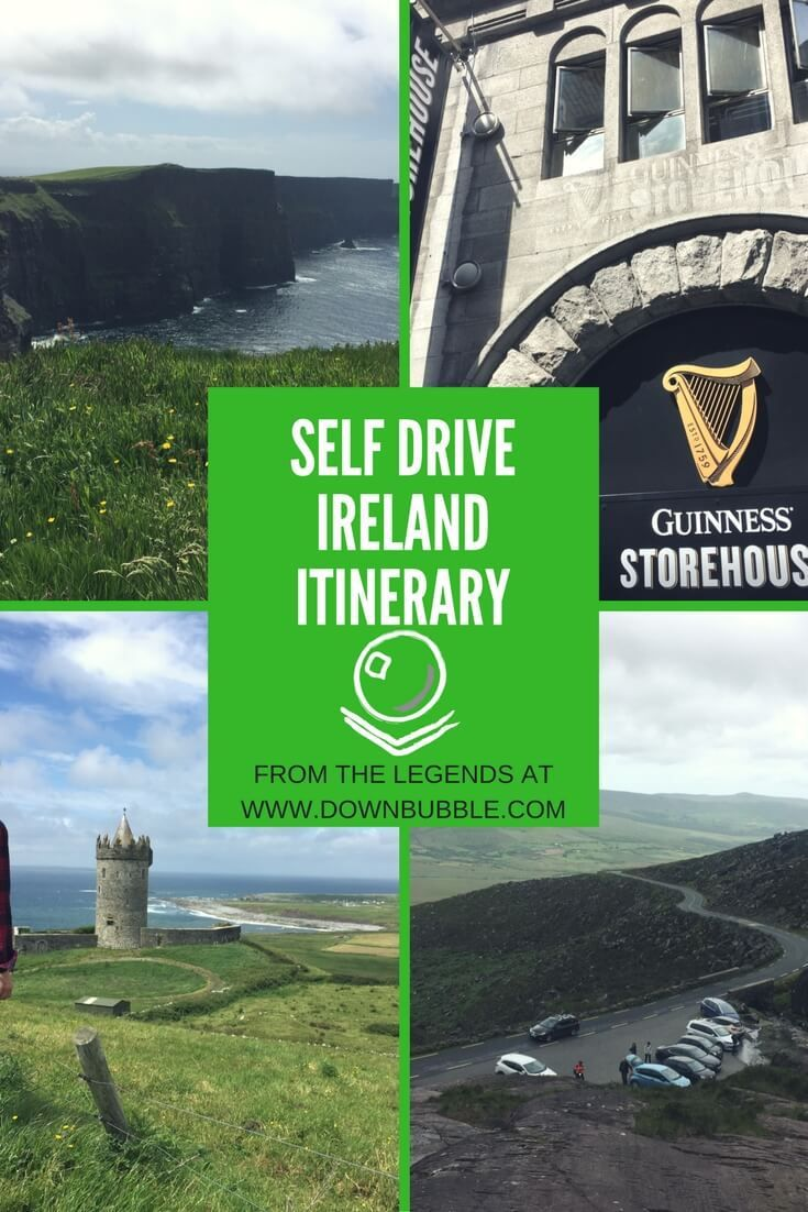 Self Drive Ireland Itinerary | Do you have 5-7 days in Ireland? Use our guide for road trip success - suitable for all ages - we took octogenarians! We cover all the major cities and sights including Dublin & Galway, Cliffs of Moher & the Blarney Stone! Plus tips for where to stay, eat and drink, a suggested driving route including timings and notes on cost at the end of the post. Happy Travel!