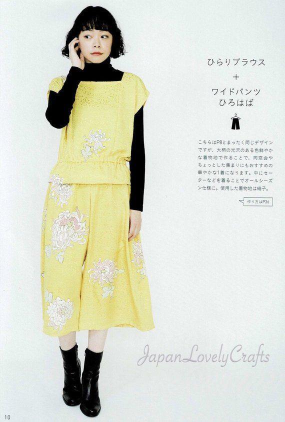 KIMONO REMAKE CLOTHES Japanese Pattern Book