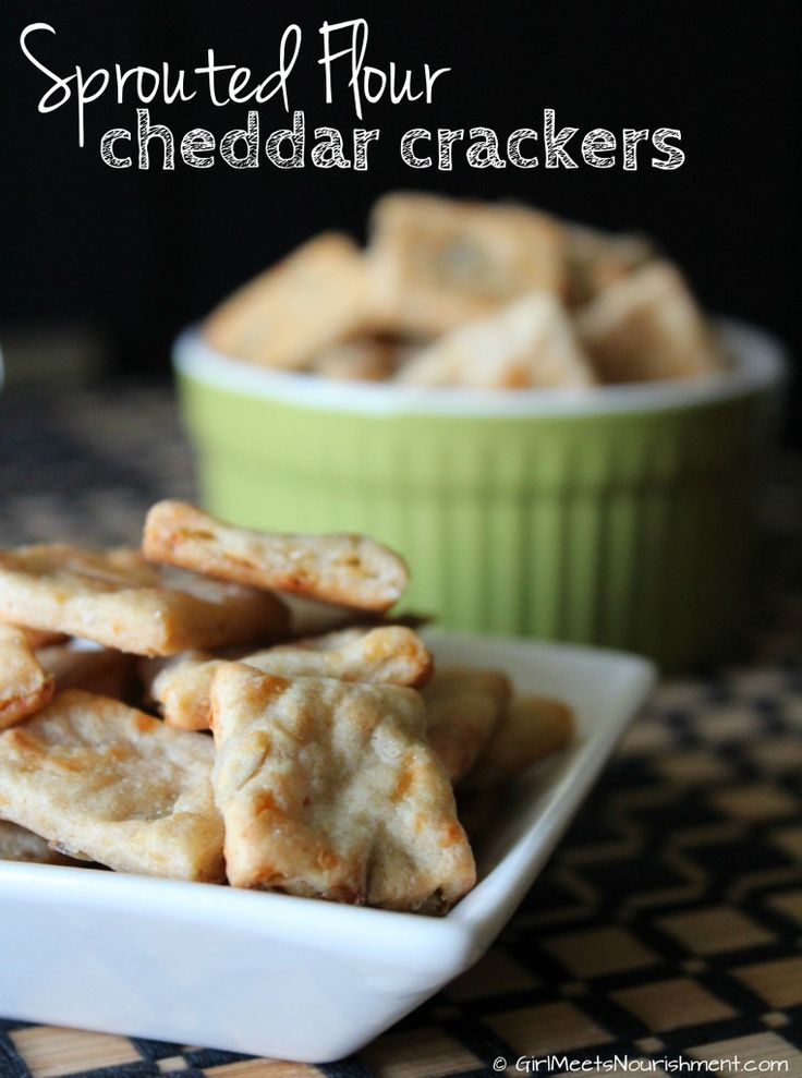 """Move over Goldfish and Cheez-It's! These sprouted flour cheese crackers deliver cheddar goodness without unwanted ingredients like TBHQ, soybean oil synthetic vitamins, and """"spices"""" (which often hide MSG)."""