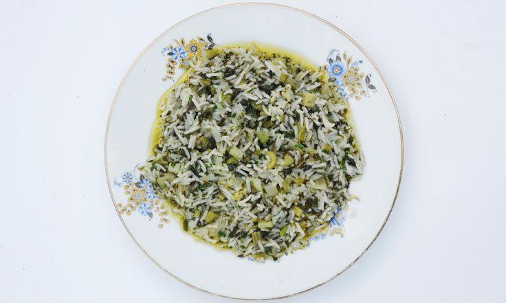 Nuno Mendes' Portuguese Rice with Grelos (turnip greens)