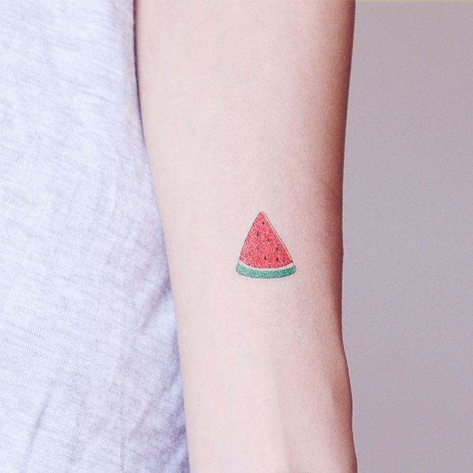 PATOO afraid of pain original waterproof tattoo stickers watermelon Watermelon cute fruit