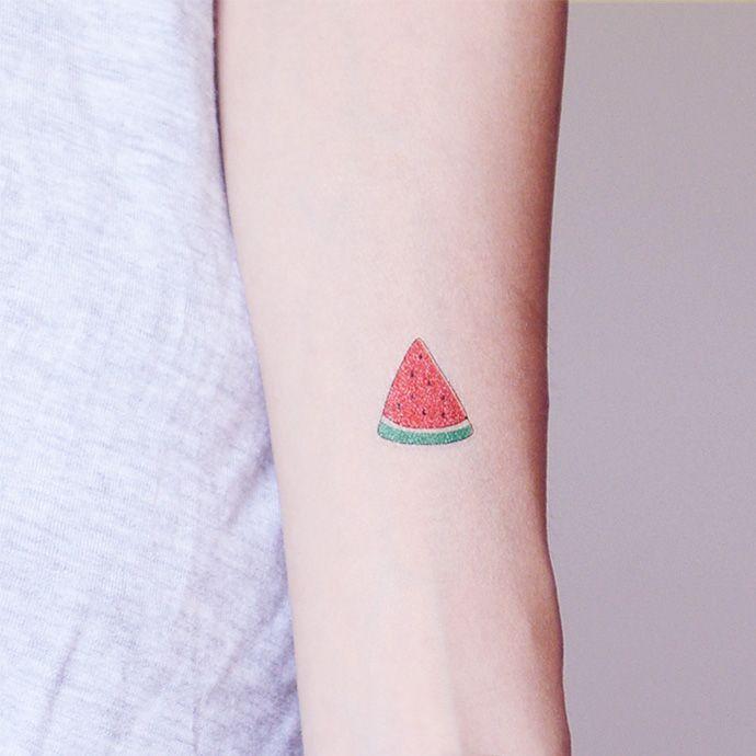 PATOO afraid of pain original waterproof tattoo stickers watermelon Watermelon cute fruit