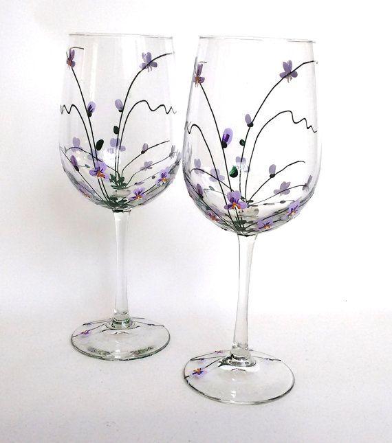 Copas de vino orquídeas vino gafas regalo cumpleaños regalo