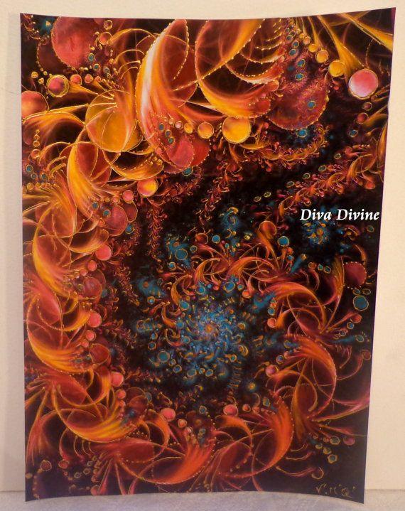 Tableau abstrait pour salon chambre hall  par DivaDivinePastel