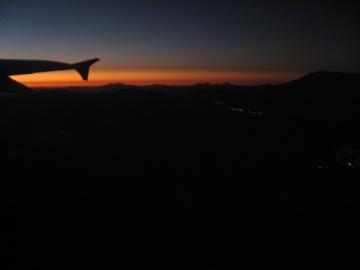 Flying from Antofagasta to Santiago.