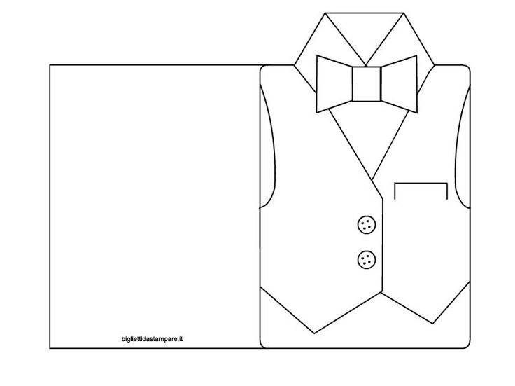 Tarjeta camisa-chaleco