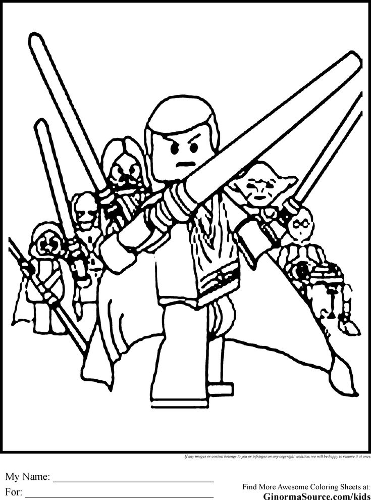 free coloring pages and star wars | Lego Star Wars Coloring Page Jedi | Coloring Pages | Pinterest