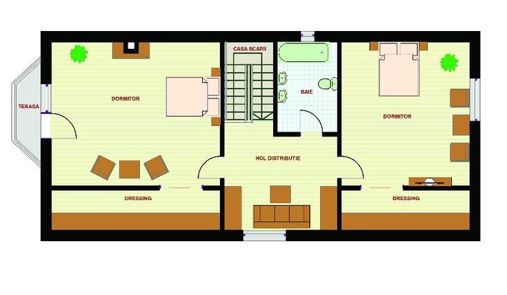 Proiecte de case pe teren cu deschidere mica narrow lot house plans 8