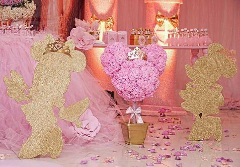 Minnie Princesa.   Ideias de bolos e festas