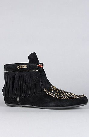 The Anna Sui x Hush Puppies Glam Wallaby Boot in Black by Hush Puppies