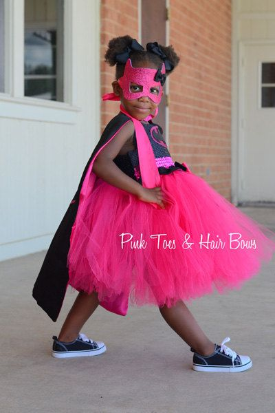 Pink Batgirl costume Bat girl tutu costume Batman by GlitterMeBaby