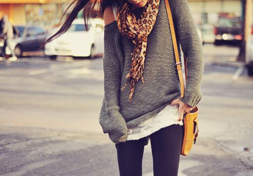 fall: Fashion, Style, Clothes, Dream Closet, Outfit, Slouchy Sweater, Big Sweater, Scarf