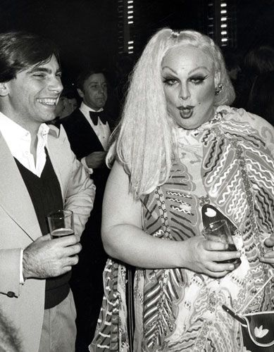Lady Divine at Halston's party Studio 54 for Bianca Jagger