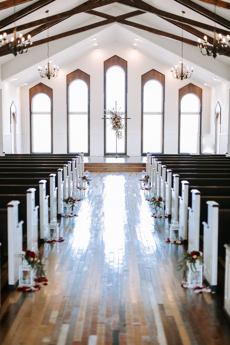 Beautiful White Chapel. Rustic Grace Estates. Dallas