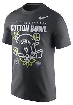 Western Michigan Broncos Nike 2017 Cotton Bowl Bound Helmet T-shirt -  Anthracite