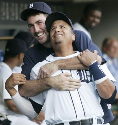 Detroit Tigers, Justin Verlander & Victor Martinez, having fun!!!!