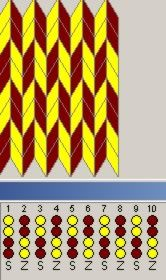Простейшие схемы узоров. Ткачество на дощечках. Плетущая паутину, или Сайт о ткачестве