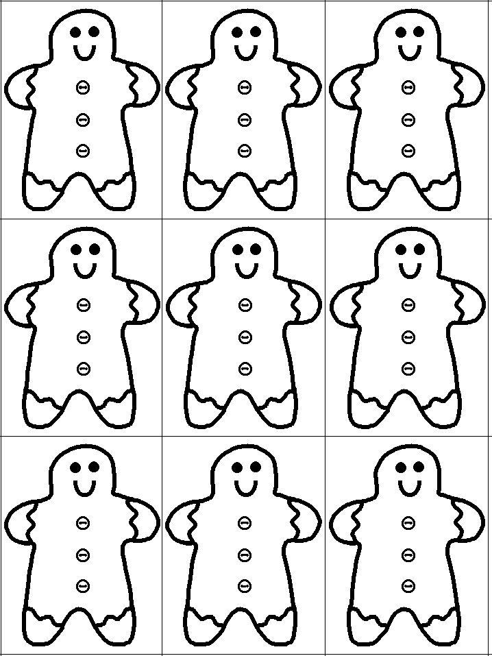 gingerbread man printable template Gingerbread man