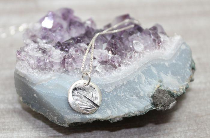 Soutwestern Boho Boho Feather Smykke - Necklace Sterling sølv - Silver