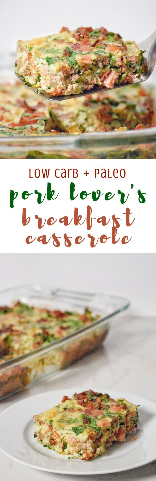 Pork Lover's Breakfast Casserole | Personally Paleo